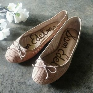 Sam Edelman Beige Ainsley Leather Flats 7.5M